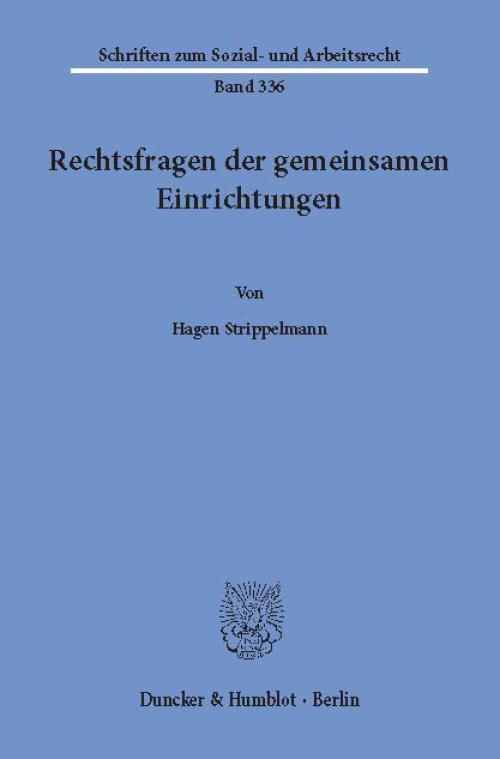 Rechtsfragen der gemeinsamen Einrichtungen. cover