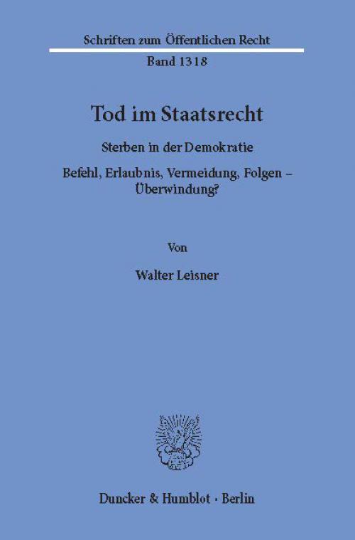 Tod im Staatsrecht. cover