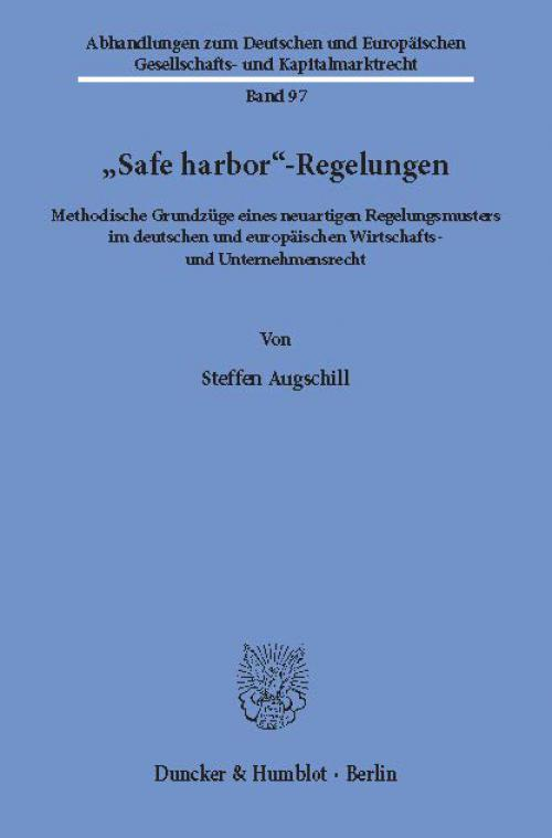 »Safe harbor«-Regelungen. cover
