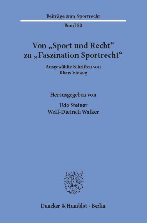 Von »Sport und Recht« zu »Faszination Sportrecht«. cover