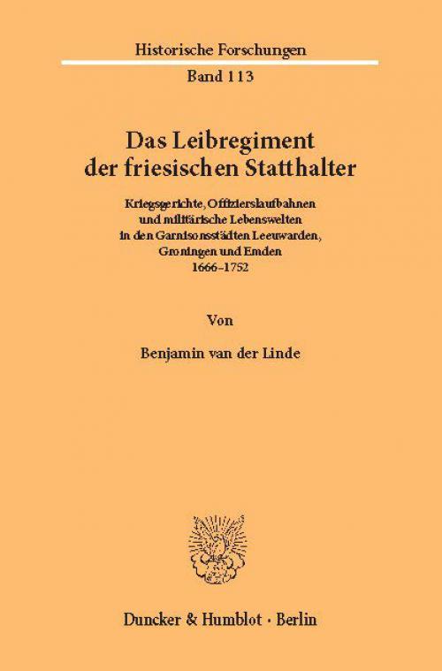 Das Leibregiment der friesischen Statthalter. cover