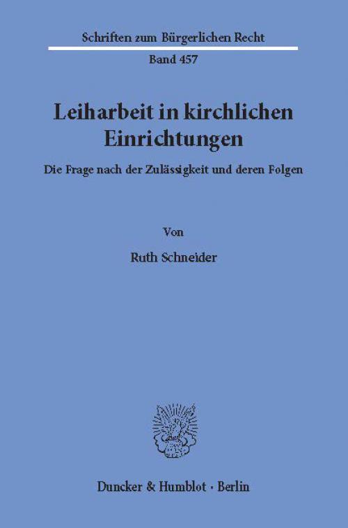 Leiharbeit in kirchlichen Einrichtungen. cover