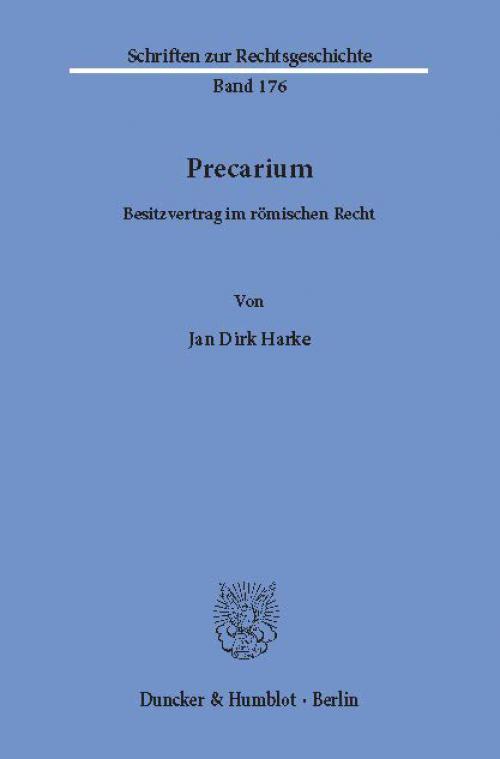 Precarium. cover