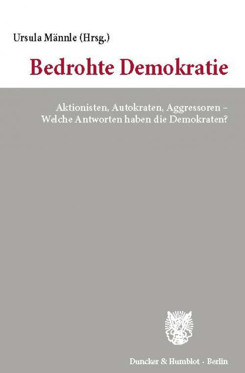 Bedrohte Demokratie. cover