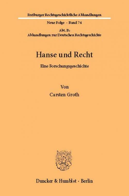 Hanse und Recht. cover