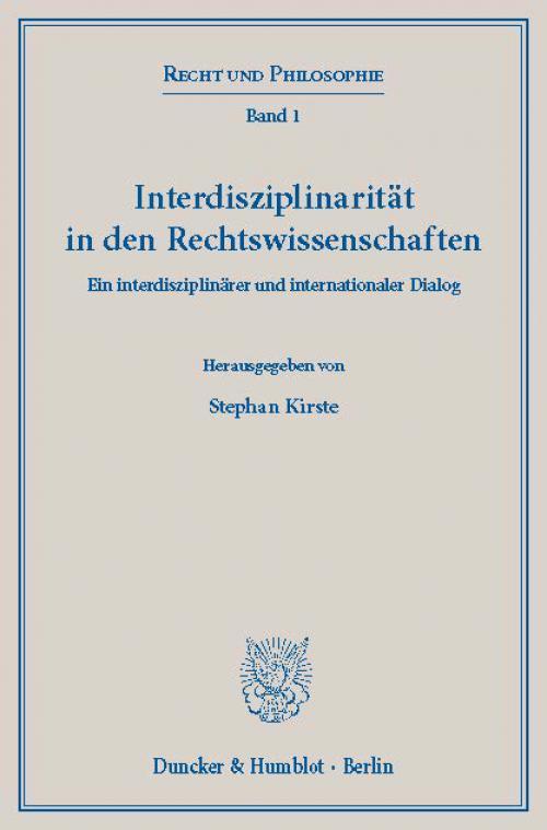 Interdisziplinarität in den Rechtswissenschaften. cover