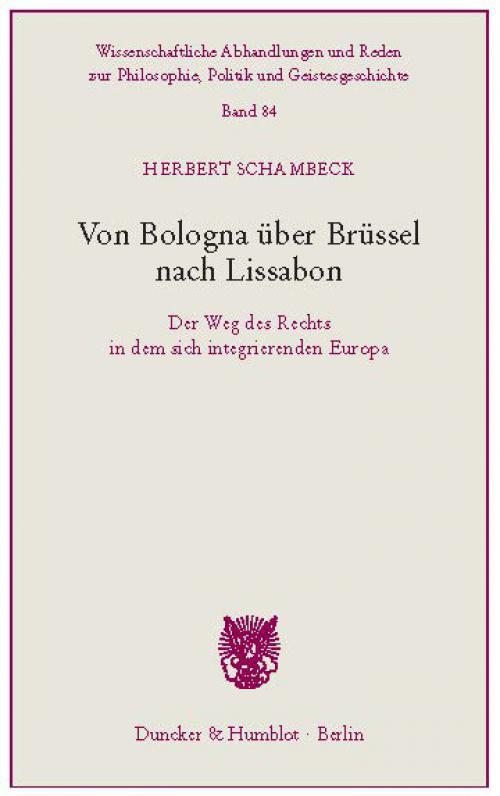 Von Bologna über Brüssel nach Lissabon. cover