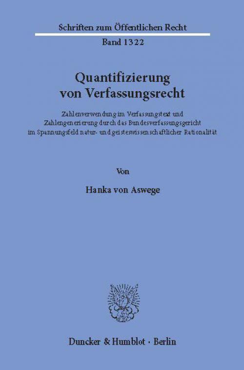 Quantifizierung von Verfassungsrecht. cover