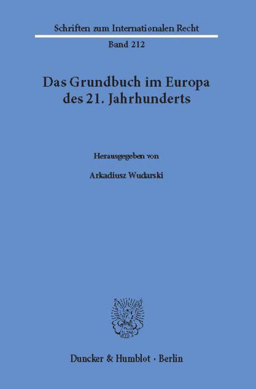 Das Grundbuch im Europa des 21. Jahrhunderts. cover