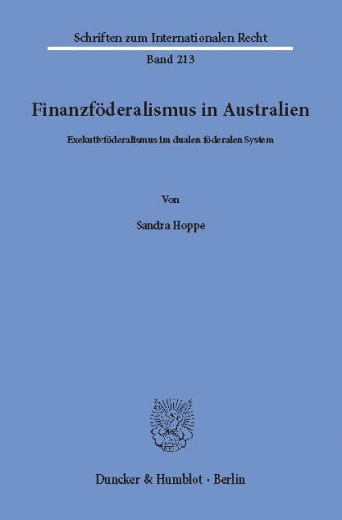Finanzföderalismus in Australien. cover