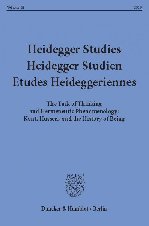 Heidegger Studies / Heidegger Studien / Etudes Heideggeriennes. cover