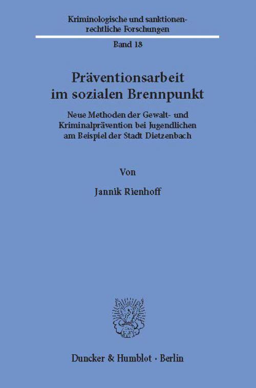 Präventionsarbeit im sozialen Brennpunkt. cover