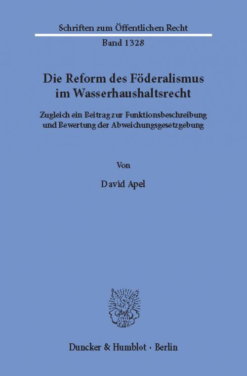 Die Reform des Föderalismus im Wasserhaushaltsrecht. cover