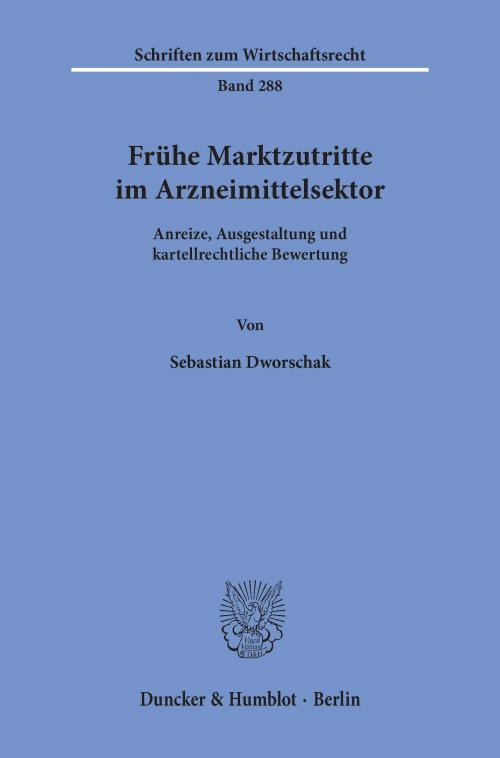 Frühe Marktzutritte im Arzneimittelsektor. cover