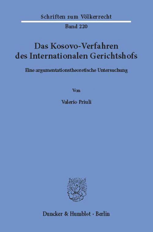 Das Kosovo-Verfahren des Internationalen Gerichtshofs. cover