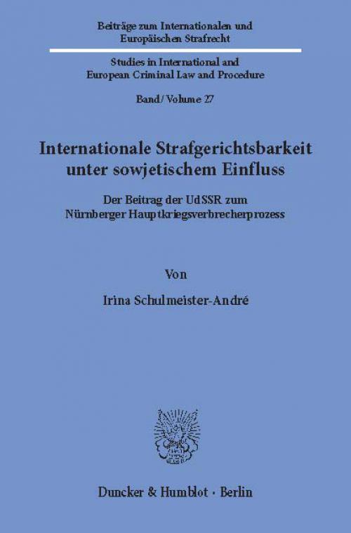 Internationale Strafgerichtsbarkeit unter sowjetischem Einfluss. cover