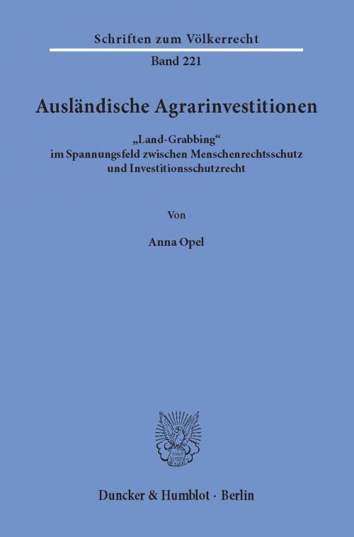 Ausländische Agrarinvestitionen. cover