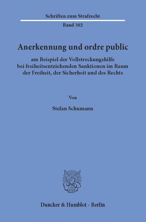 Anerkennung und ordre public cover
