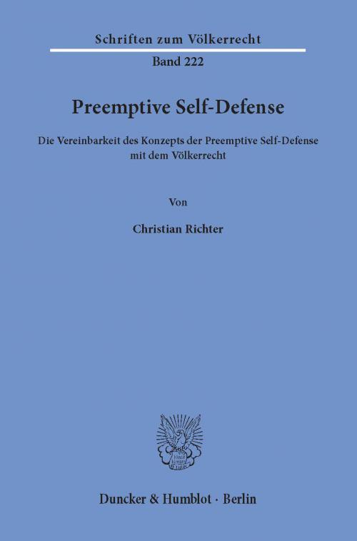 Preemptive Self-Defense. cover