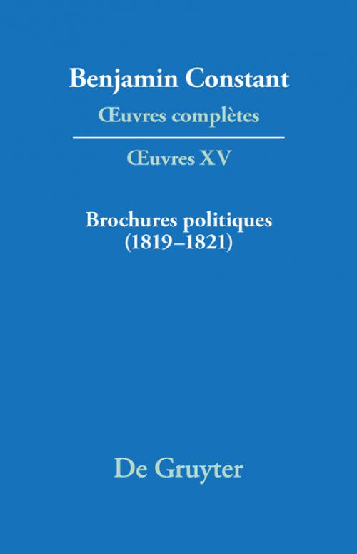 Brochures politiques (1819–1821) cover