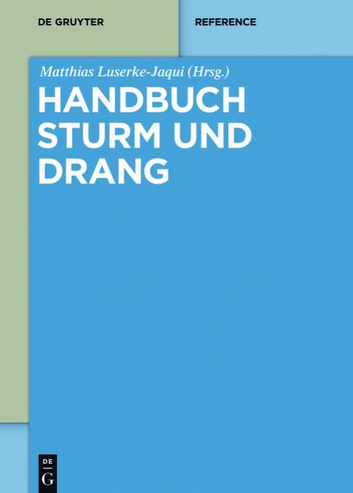 Handbuch Sturm und Drang cover