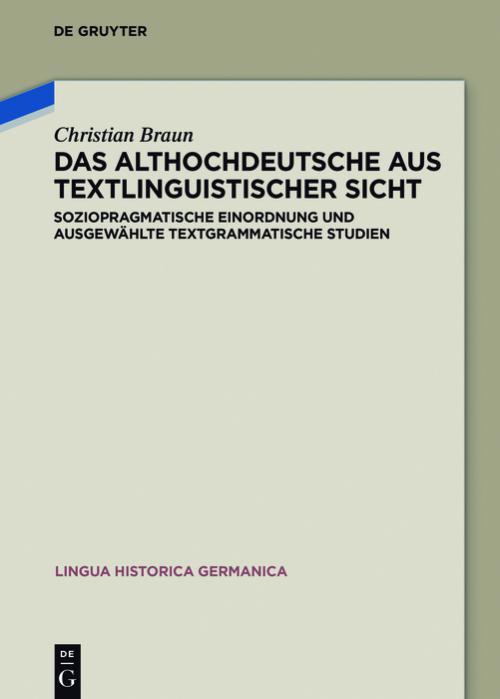 Das Althochdeutsche aus textlinguistischer Sicht cover