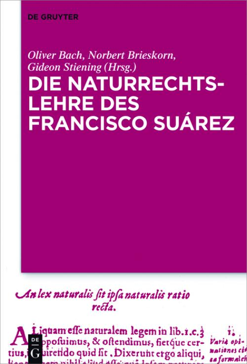 Die Naturrechtslehre des Francisco Suárez cover