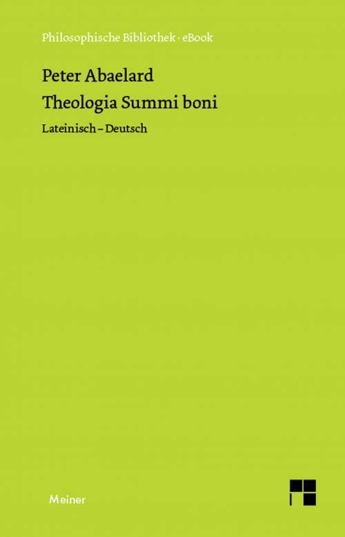 Theologia Summi boni cover