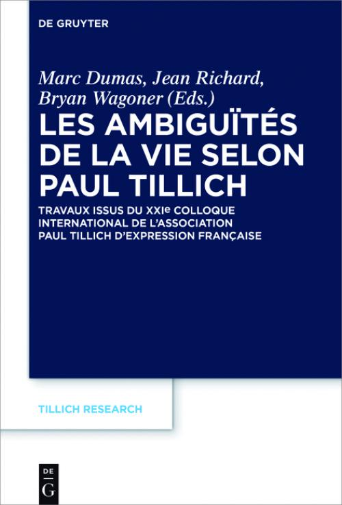 Les ambiguïtés de la vie selon Paul Tillich cover