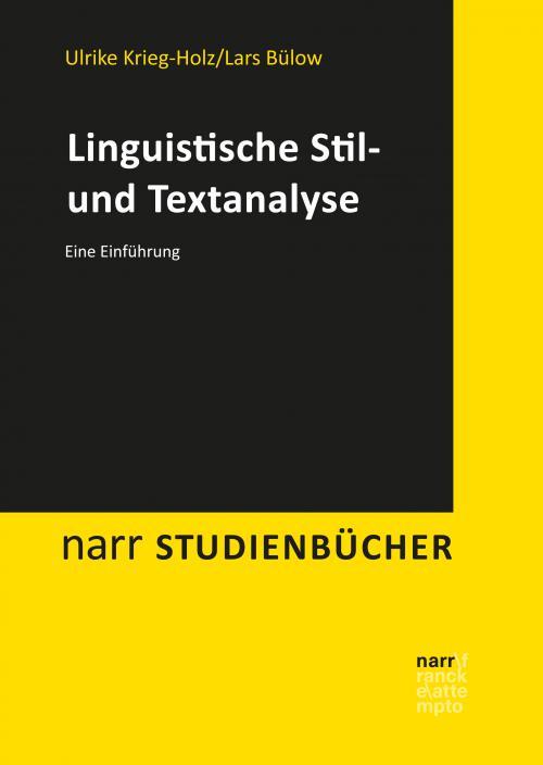 Linguistische Stil- und Textanalyse cover