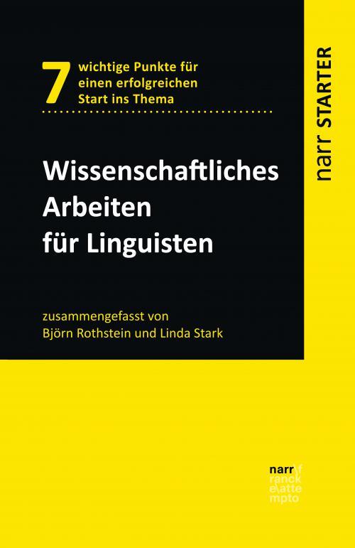 Wissenschaftliches Arbeiten für Linguisten cover