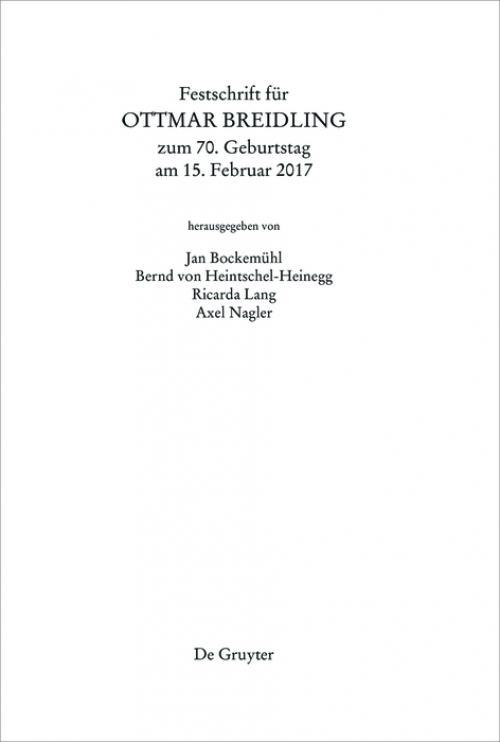 Festschrift für Ottmar Breidling zum 70. Geburtstag am 15. Februar 2017 cover