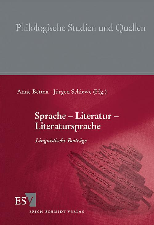 Sprache - Literatur - Literatursprache cover
