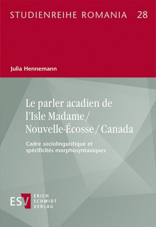 Le parler acadien de l'Isle Madame / Nouvelle-Écosse / Canada cover