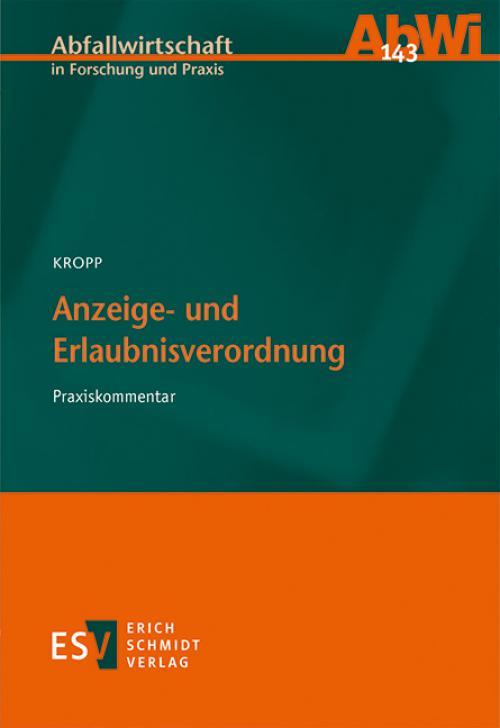 Anzeige- und Erlaubnisverordnung cover