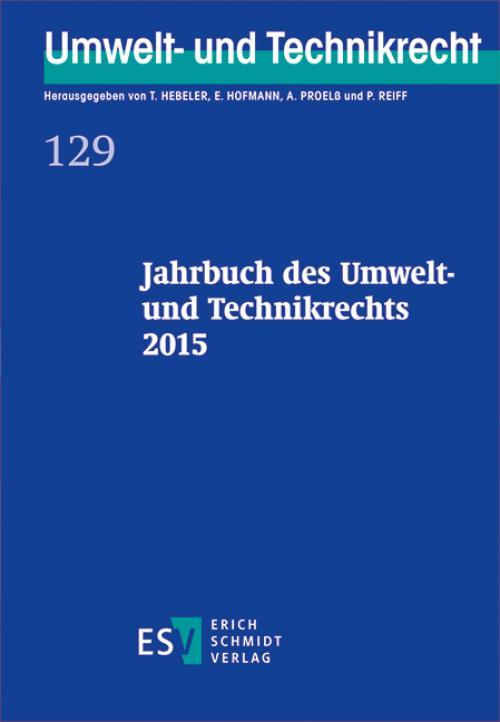 Jahrbuch des Umwelt- und Technikrechts 2015 cover