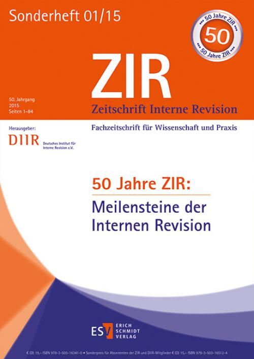 50 Jahre ZIR: Meilensteine der Internen Revision cover