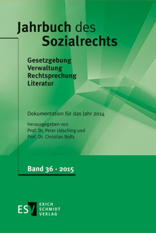 Jahrbuch des Sozialrechts Dokumentation für das Jahr 2014 cover