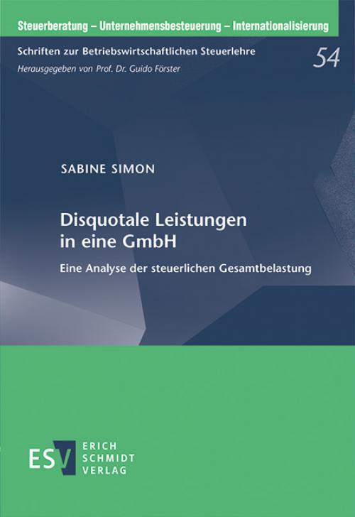 Disquotale Leistungen in eine GmbH cover