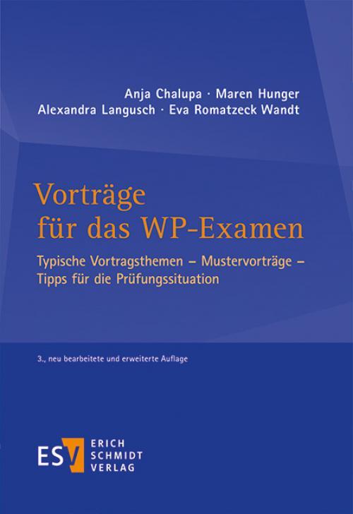 Vorträge für das WP-Examen cover