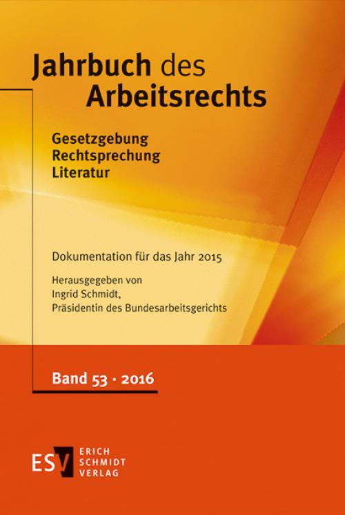 Jahrbuch des Arbeitsrechts cover