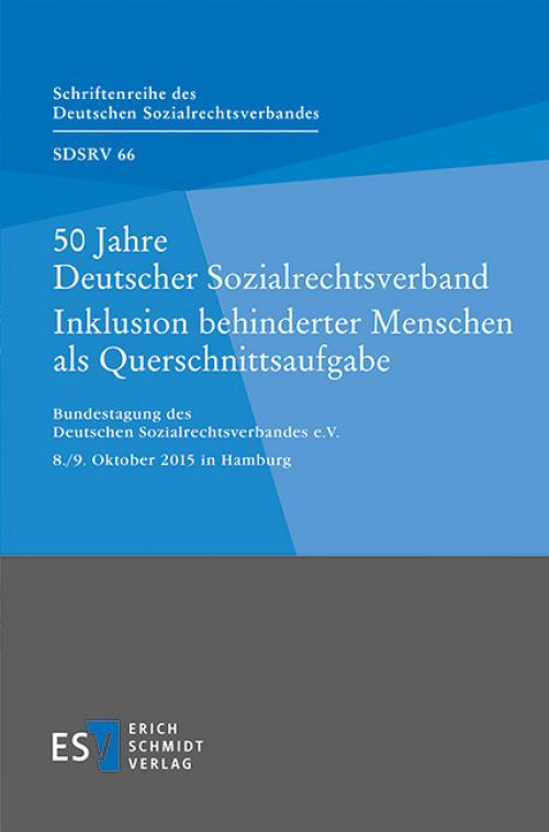 50 Jahre Deutscher Sozialrechtsverband Inklusion behinderter Menschen als Querschnittsaufgabe cover