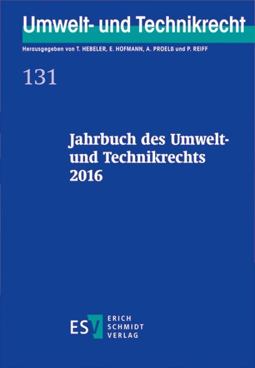 Jahrbuch des Umwelt- und Technikrechts 2016 cover