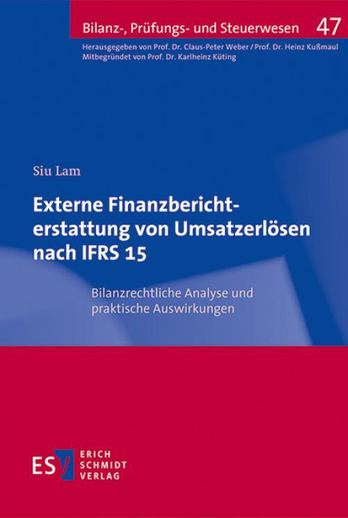 Externe Finanzberichterstattung von Umsatzerlösen nach IFRS 15 cover