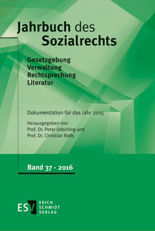 Jahrbuch des Sozialrechts Dokumentation für das Jahr 2015 cover