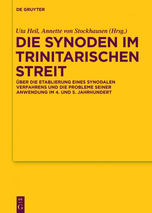 Die Synoden im trinitarischen Streit cover