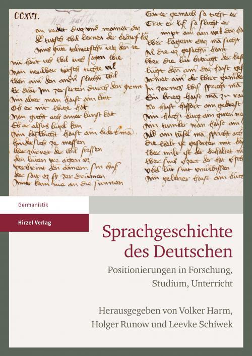 Sprachgeschichte des Deutschen cover