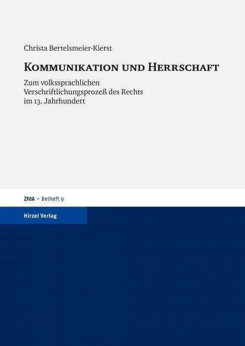 Kommunikation und Herrschaft cover