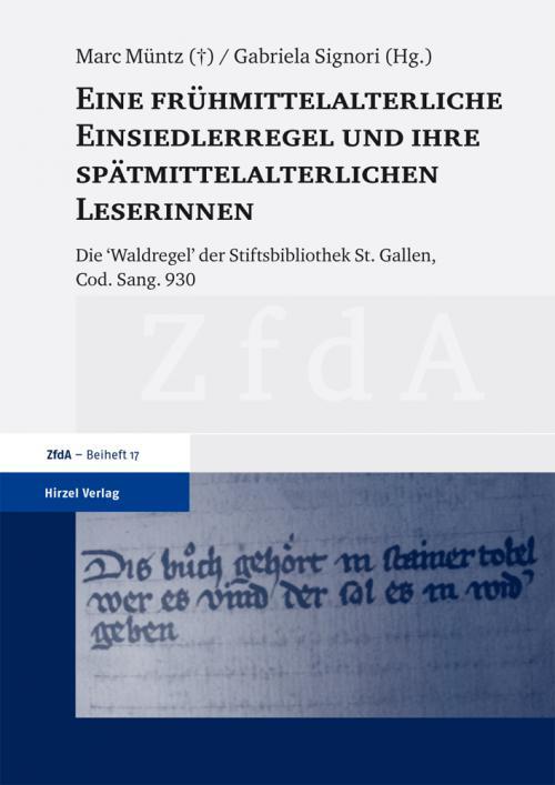 Eine frühmittelalterliche Einsiedlerregel und ihre spätmittelalterlichen Leserinnen cover