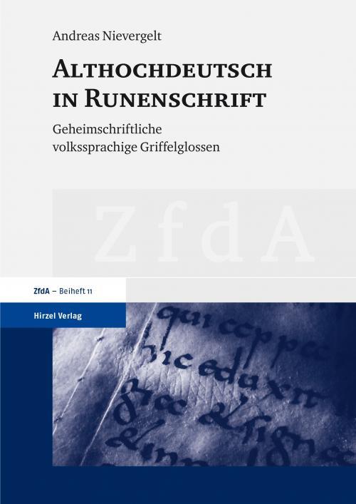 Althochdeutsch in Runenschrift cover